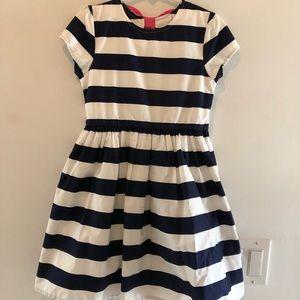 Gymboree Navy & White cap sleeve dress